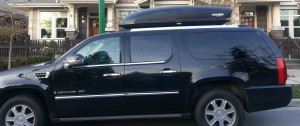 Whistler limo with ski box